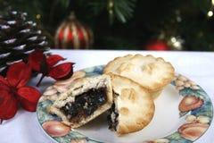 Рождество семенит пироги Стоковое фото RF