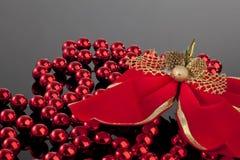 рождество смычка beeds Стоковые Изображения RF