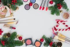 Рождество составляет косметики Стоковые Изображения