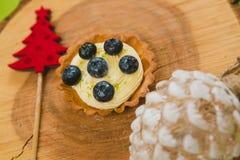 рождество торта традиционное цветы греют Стоковое Фото