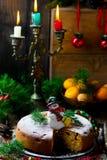 рождество торта традиционное Стоковое Фото