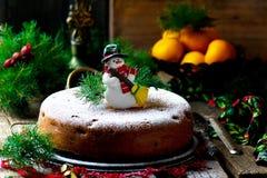 рождество торта традиционное Стоковое Изображение