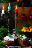 рождество торта традиционное Стоковая Фотография