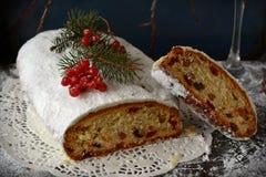 рождество торта stollen Стоковая Фотография RF