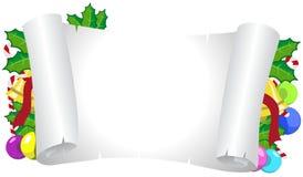 рождество украсило рамку горизонтальную Стоковая Фотография RF