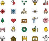 рождество украсило вал икон шерсти Стоковая Фотография