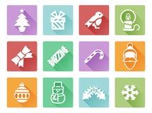 рождество украсило вал икон шерсти Стоковые Изображения RF