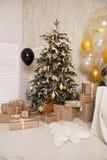 рождество украсило вал Чувство торжества стоковая фотография