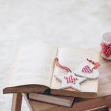 рождество украшает идеи деталей свежие домашние к Стоковое фото RF