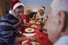 рождество украшает идеи обеда свежие домашние к Стоковые Фото