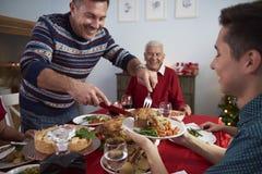 рождество украшает идеи обеда свежие домашние к Стоковое фото RF