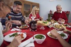 рождество украшает идеи обеда свежие домашние к Стоковое Изображение RF