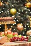 рождество украшает идеи обеда свежие домашние к Стоковые Фотографии RF