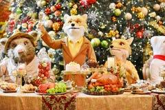рождество украшает идеи обеда свежие домашние к Стоковые Изображения RF