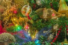 рождество украшает идеи украшения свежие домашние к стоковое изображение rf