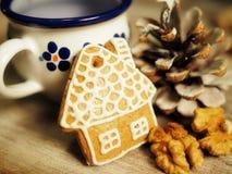 рождество украшает идеи украшения свежие домашние к Стоковые Фото
