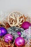 рождество украшает идеи украшения свежие домашние к стоковое фото rf