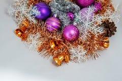 рождество украшает идеи украшения свежие домашние к Стоковые Фотографии RF