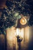 рождество украшает идеи украшения свежие домашние к Стоковые Изображения RF
