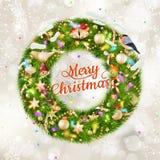 рождество украшает идеи украшения свежие домашние к 10 eps Стоковые Фотографии RF