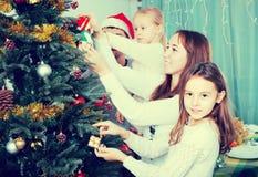 рождество украшая вал родного дома Стоковое Изображение RF