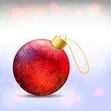 рождество шарика глянцеватое Стоковое Изображение RF