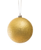 рождество шарика золотистое Стоковая Фотография