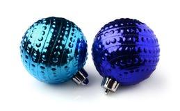 рождество 2 шариков голубое Стоковая Фотография