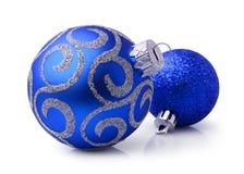 рождество 2 шариков голубое Стоковое фото RF