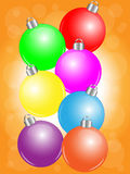 рождество шариков цветастое бесплатная иллюстрация