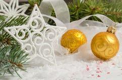 рождество 2 шариков Стоковое Фото