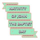 Рождество эмблемы приветствию дня баптиста Джона Стоковые Изображения RF