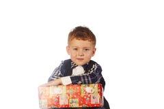 Рождество ягнится портрет в студии на белой предпосылке Стоковое Фото