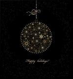 рождество bauble предпосылки 3d составило фотографическое реальное представляет Стоковые Изображения RF