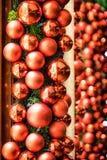 рождество bauble предпосылки 3d составило фотографическое реальное представляет Стоковое фото RF