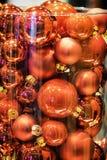 рождество bauble предпосылки 3d составило фотографическое реальное представляет Стоковые Фотографии RF