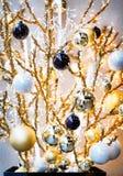 рождество bauble предпосылки 3d составило фотографическое реальное представляет Стоковое Фото