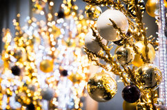 рождество bauble предпосылки 3d составило фотографическое реальное представляет Стоковое Изображение