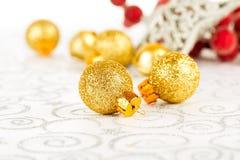 рождество bauble предпосылки 3d составило фотографическое реальное представляет Стоковые Фото