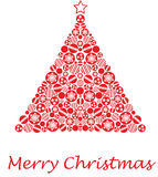 рождество baubles сделало вал Стоковое Изображение RF