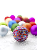 рождество baubles цветастое Стоковая Фотография RF