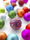 рождество baubles цветастое Стоковое фото RF