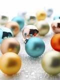 рождество baubles цветастое Стоковые Изображения RF