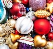 рождество baubles цветастое Стоковые Изображения