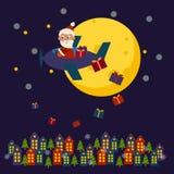 рождество claus editable eps полный santa карточки Стоковая Фотография