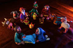 Рождество Figurines от глины Стоковая Фотография