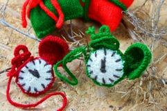 Рождество, handmade часы, xmas, подарок, время Стоковое фото RF