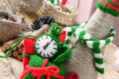 Рождество, handmade часы, xmas, подарок, время Стоковые Фото