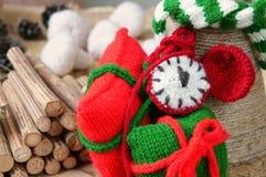 Рождество, handmade часы, xmas, подарок, время Стоковые Изображения