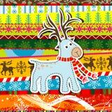 Рождество Scrapbook делает по образцу поздравительную открытку Стоковое Фото